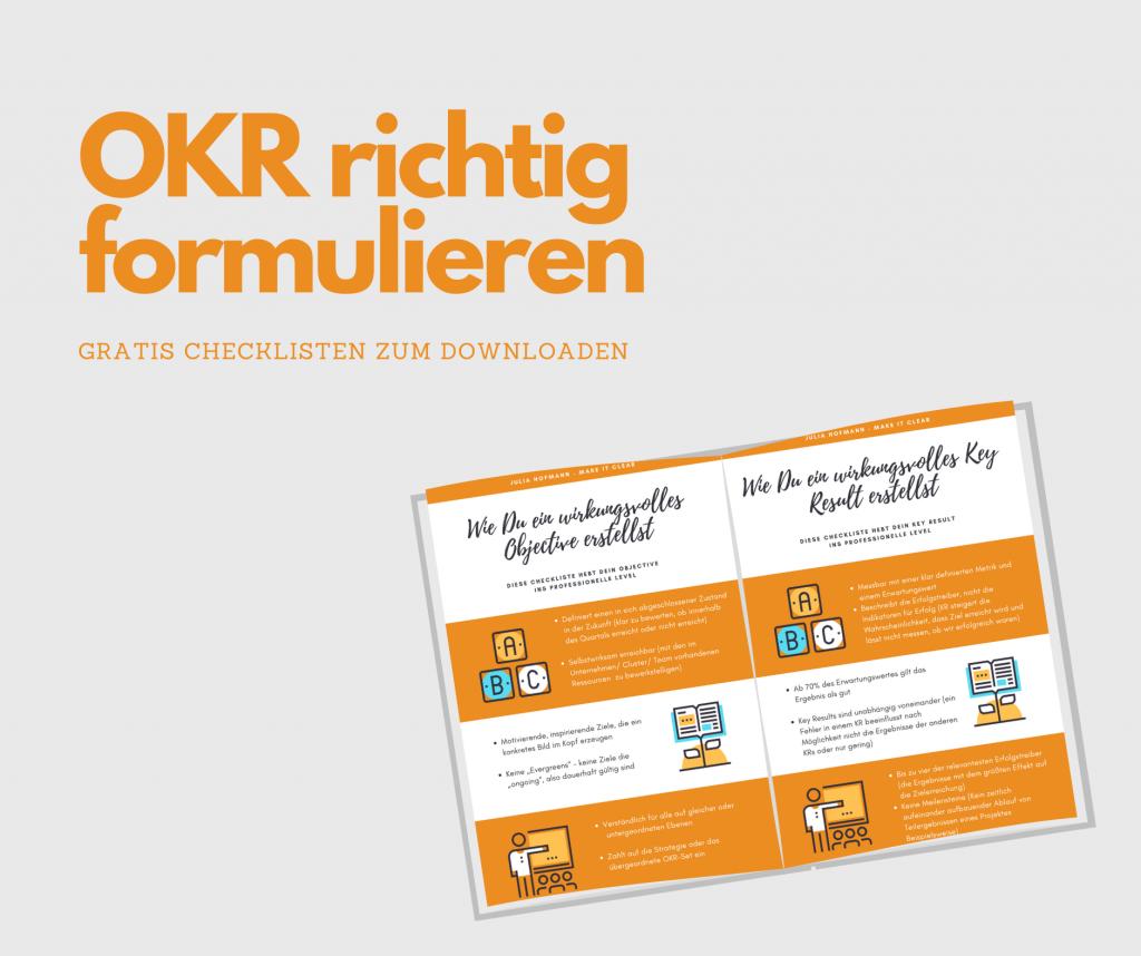 Ziele mit OKR formulieren